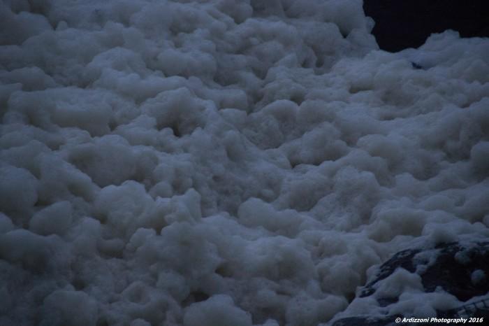February 3, 2016 sea foam on Shore Road