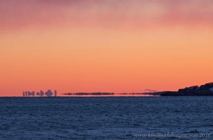 Gloucester to Boston skyline Niles Beach sunset www.kimsmithdesigns.com -3