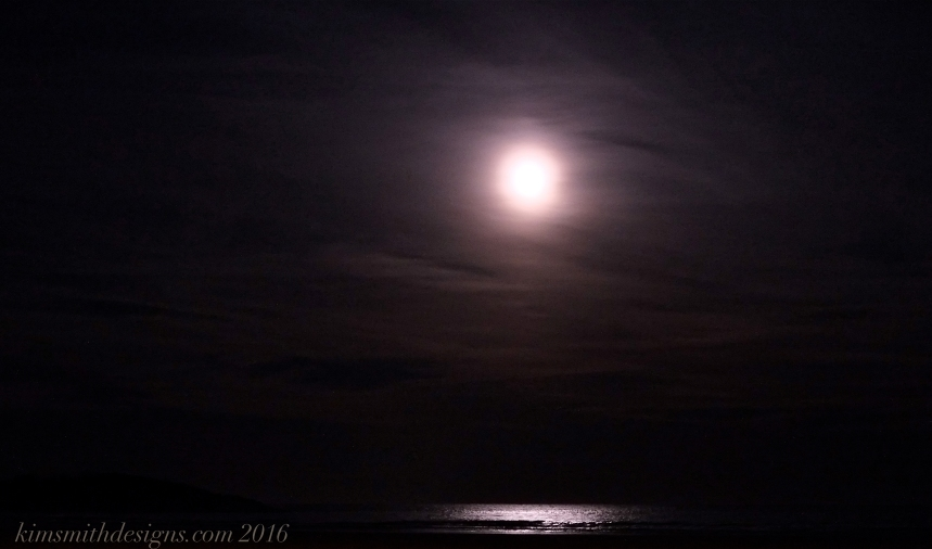 Snow Moon February Good Harbor Beach kimsmithdesigns.com 2016
