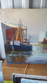 16x20 1 blue boat