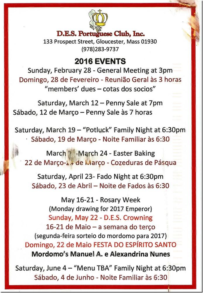 DES 2016 Schedule