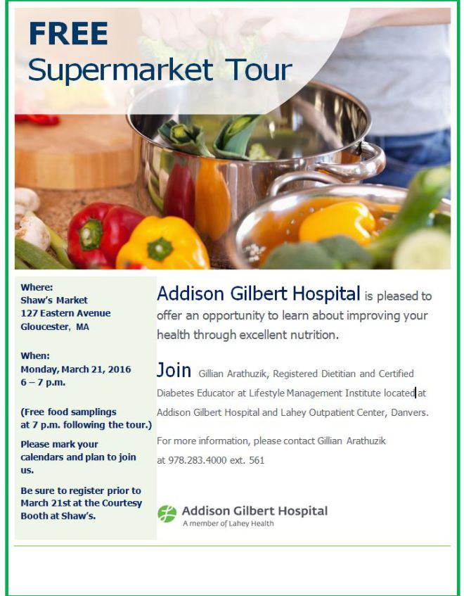 Free Supermarket Tour!!  National Nutrition Month