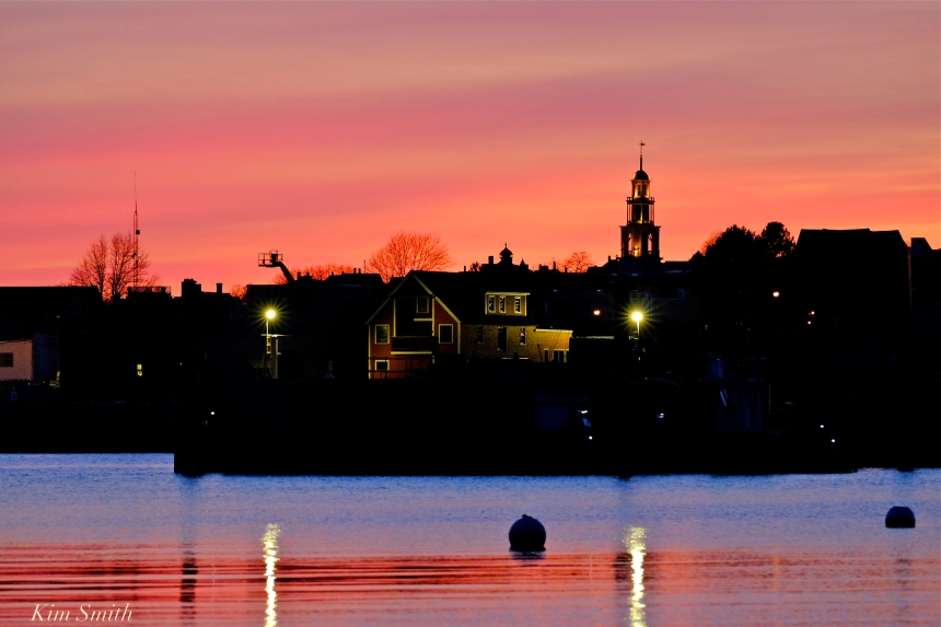 Gloucester Harbor UU Church sunset Kim Smith