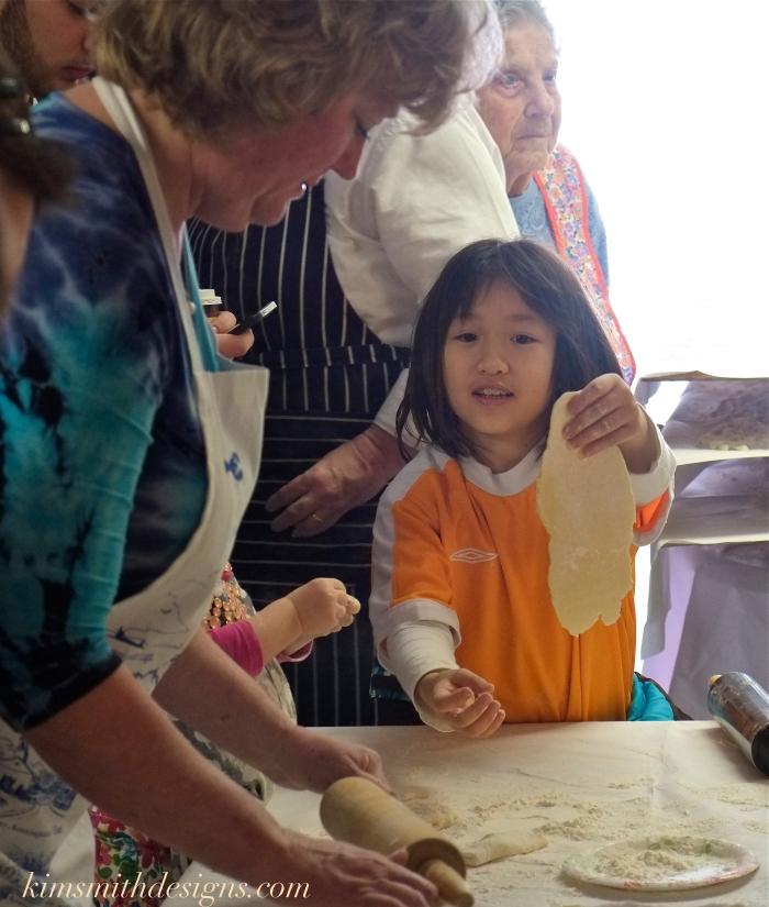 Gloucester's Feast of Saint Joseph pasta making kim smith designs.com 2016