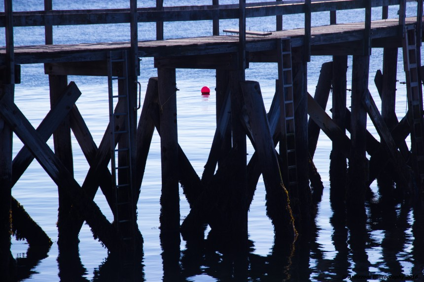 March 26, 2016 red buoy under the pier