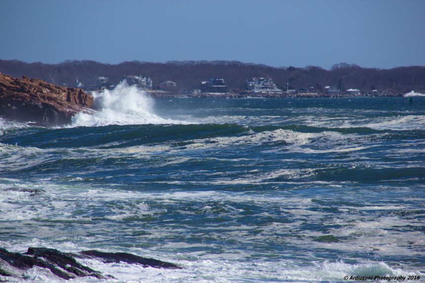 March 5, 2016 rough seas from Shore Road