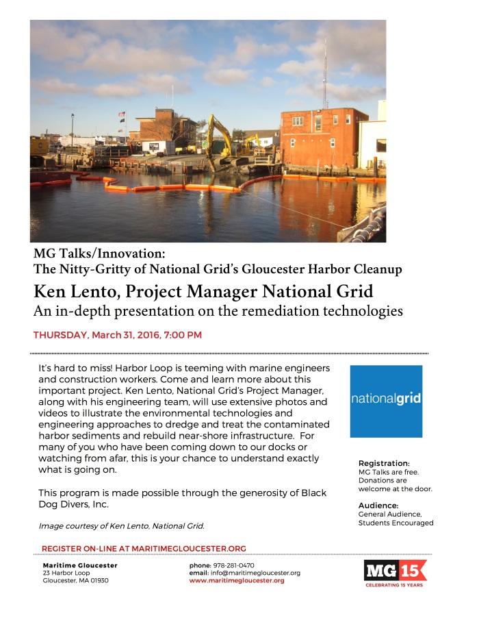 MG Talk National Grid poster