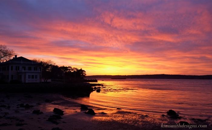 Niles Beach Gloucester Harbor Bell House sunset kimsmithdesigns.com
