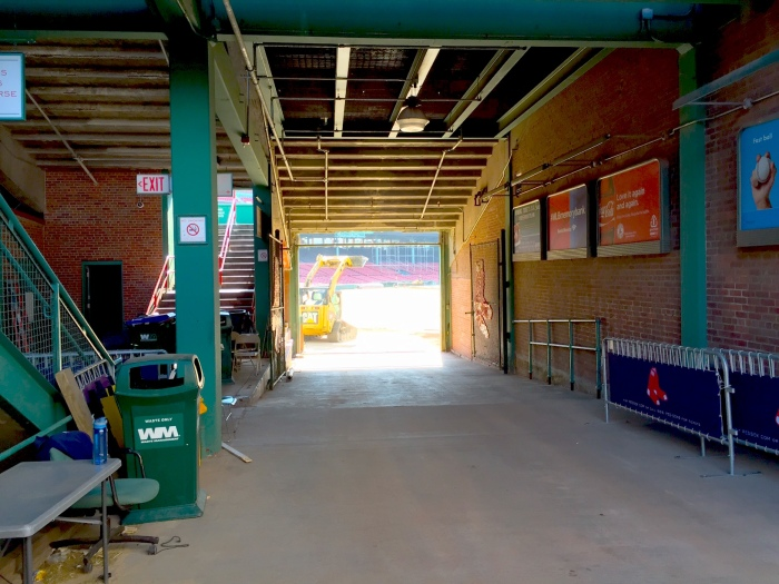 Today they are rubbing the Georgia clay around before they lay in the new grass at Fenway.