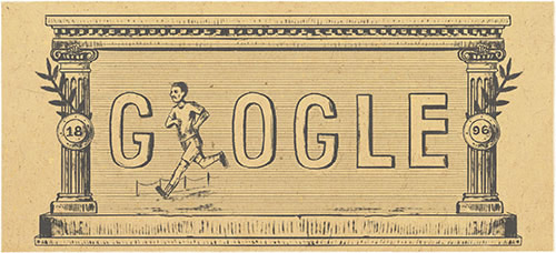 120th-anniversary-of-first-modern-olympic-games-google doodle