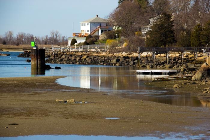 April 16, 2016 low tide at Corliss landing