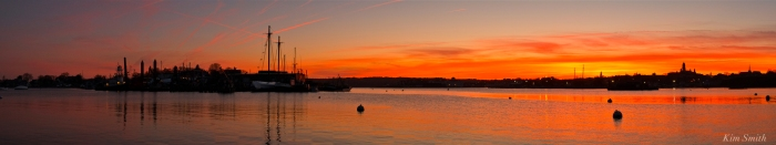 Gloucester City skyline sunset panorama Kim Smith