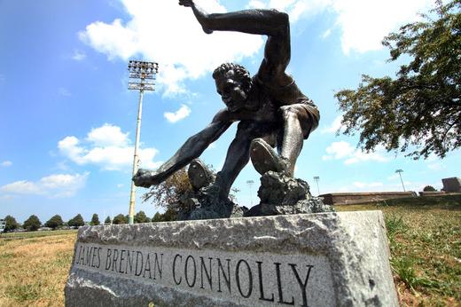 James Connolly sculpture Boston Globe photo