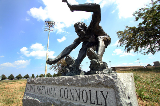 James Connolly sculpture Boston Globe photo