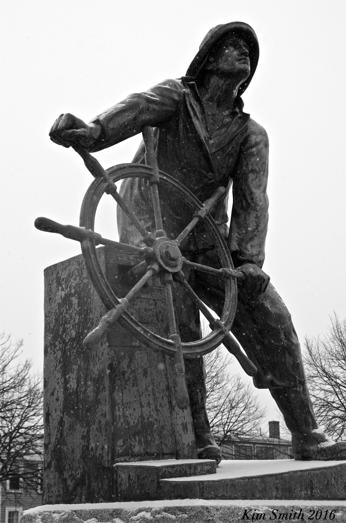 Man at the Wheel Gloucester snowy day Kim Smith 2016. JPG copy