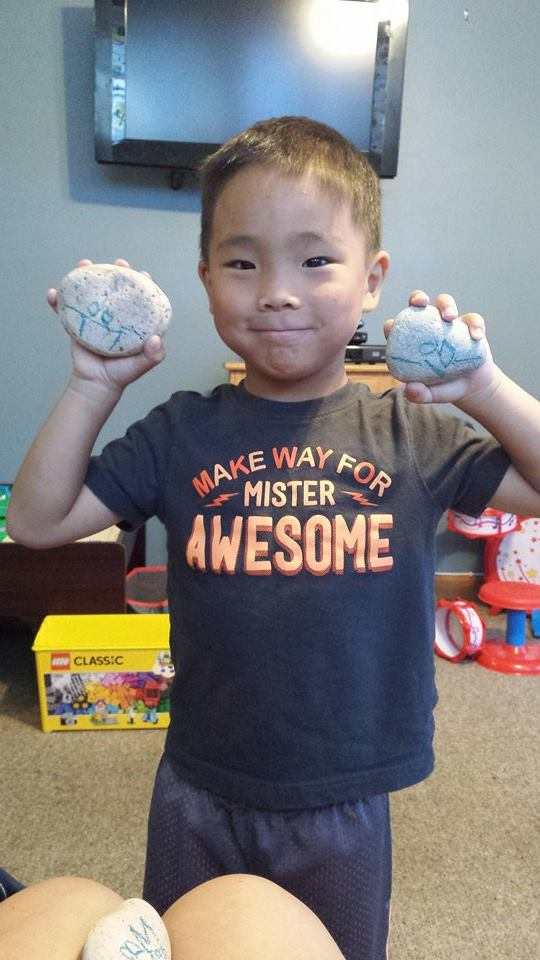 "My Nephew Tommy soon to be a ""Art, Rocks!"" Artist"