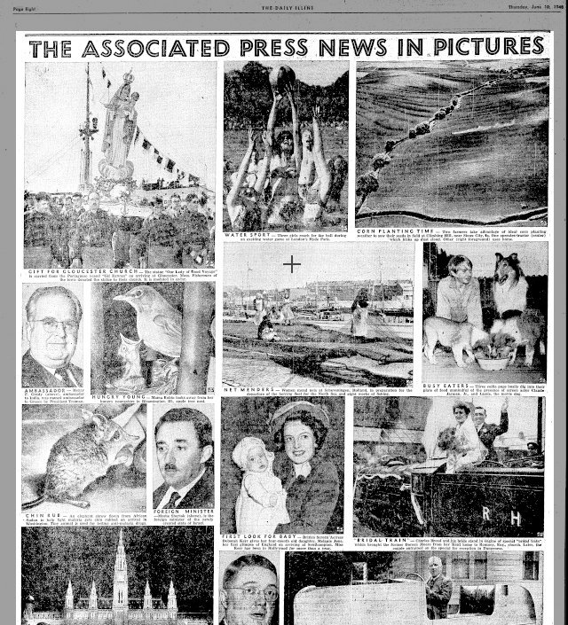 Associated Press  daily illini Tuesday 10 June  1948