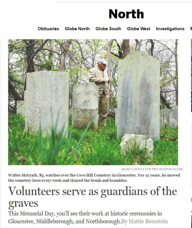 Boston Globe may 30 2016 grave guards