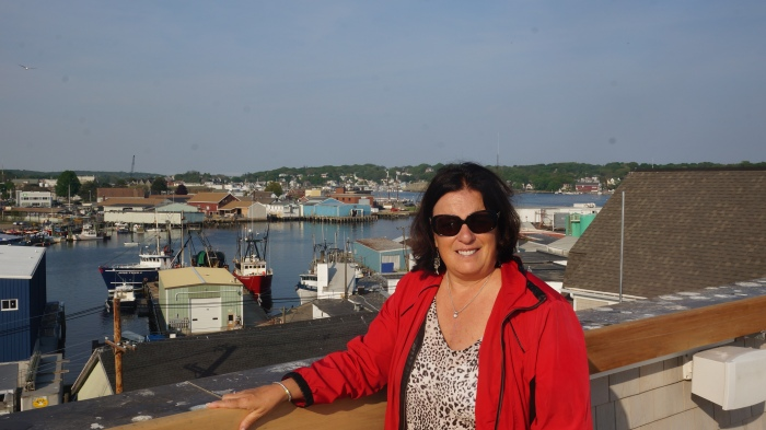 Sheree Zizik on The Roofdeck Of Gloucester MA Beauport Hotel