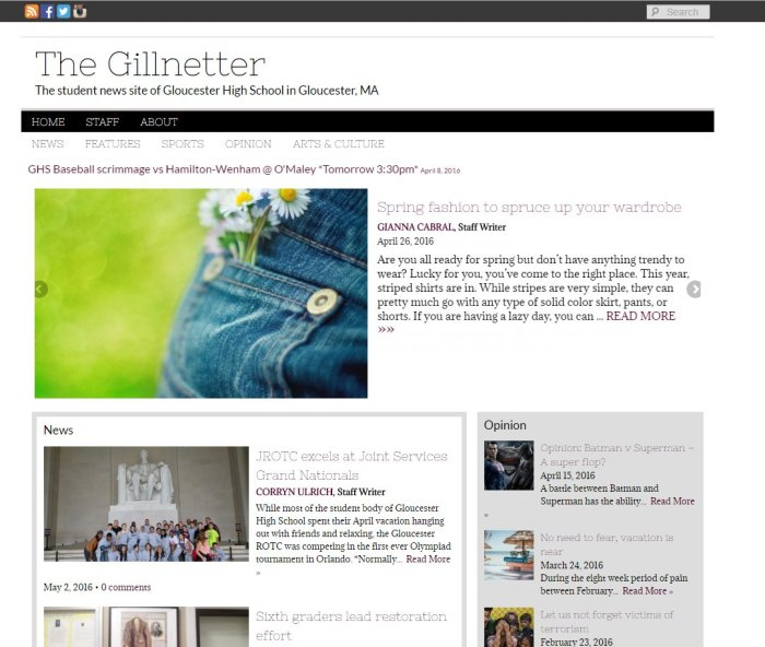 Gloucester The Gillnetter homepage MA