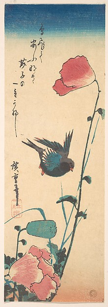 Hiroshige Poppy and Sparrow MET