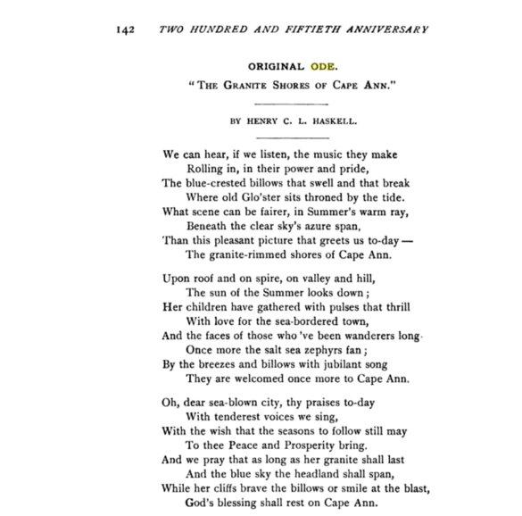 Lane ode 1892 program