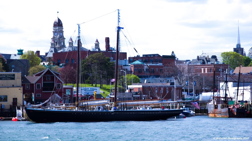 May 15, 2016 City of Gloucester with the Schooner Adventure