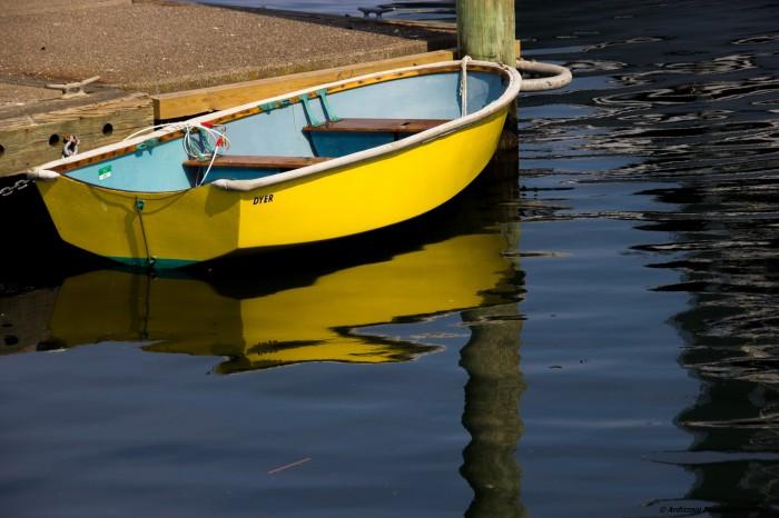 May 28, 2016 Lone yellow rowboat