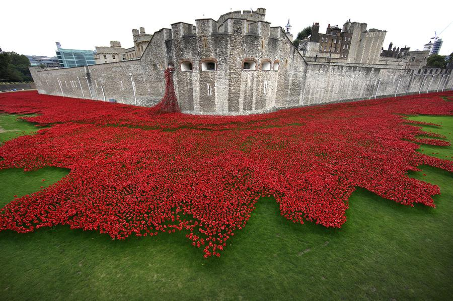 Paul Cummins blood swept lands and seas of red tower of london 2014 ceramic poppy