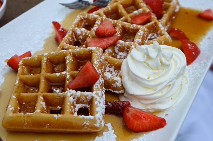 Beauport Hotel Gloucester Dining Review waffles copyright Kim Smith