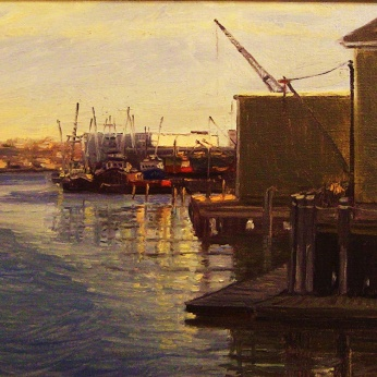 "Gloucester Harbor: Stephen LaPierre, 15"" x 12"" oil on canvas"