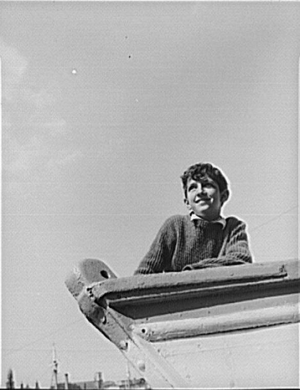 Gloucester, Massachusetts. Anthony Parisi, an Italian fisherman's son