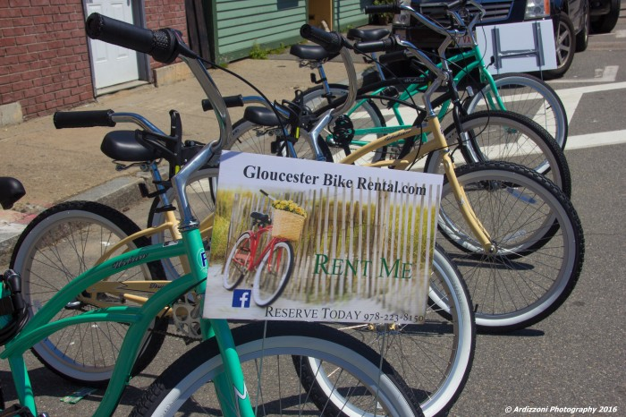 June 19, 2016 Bike Rentals next to Katrina on Rogers Street