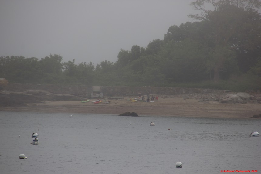June 4, 2016 kayaks in the fog at 10 pund island