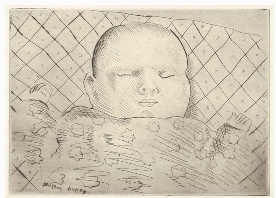 Milton Avery March drypoint 1933