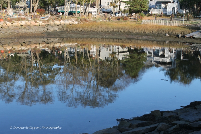 October 29, 2013 Reflections low tide on Rocky Neck