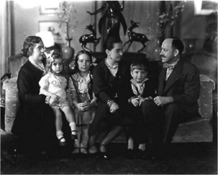 Paul Manship and family Isabel Manship xSarah Janet x Elizabeth x Pauline x John Paul x Paul