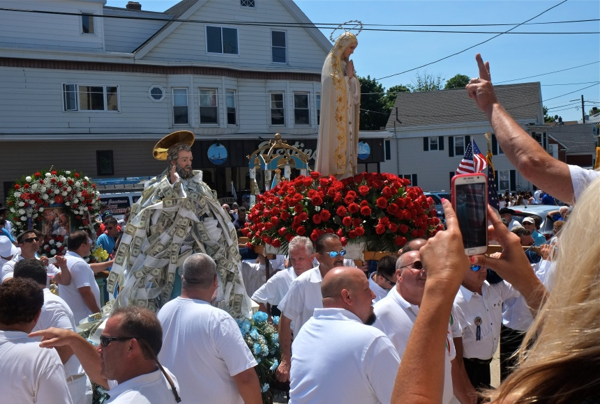 SAINT PETER'S FIESTA 2016 GLOUCESTER PROCESSION Our lady of Good Voyage copyright Kim Smith