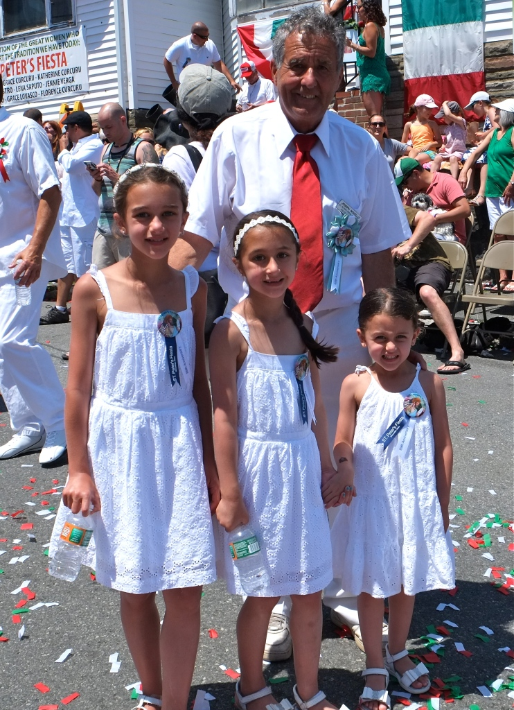 SAINT PETER'S FIESTA 2016 PROCESSION Joe Novello granddaughters copyright Kim Smith