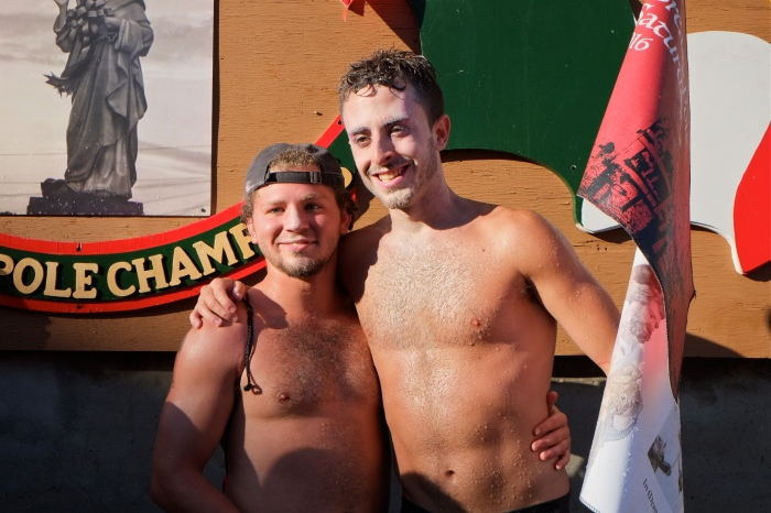 Saturday Greasy Pole Champion 2016 coyright -5 Kim Smith