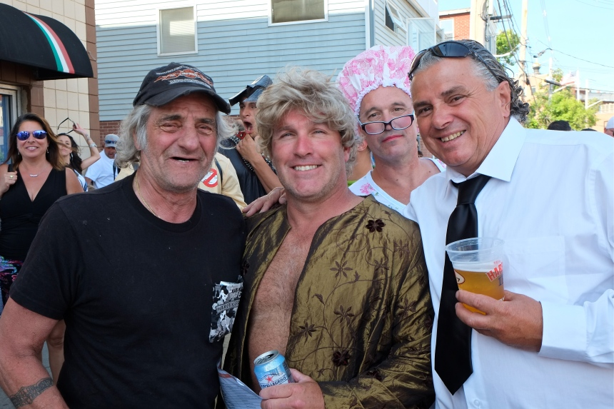 Steve le Blanc, Joe Staline, Salvi Benson, Dave Foote Sunday Greasy Pole Walkers copyright Kim Smith
