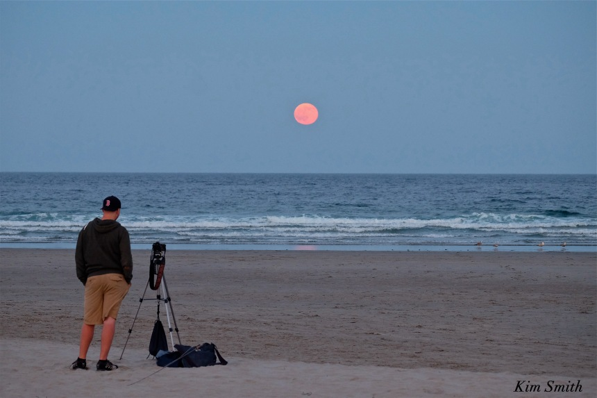 Strawberry Full Moon Summer Solstice Good Harbor Beach -2 copyright Kim Smith
