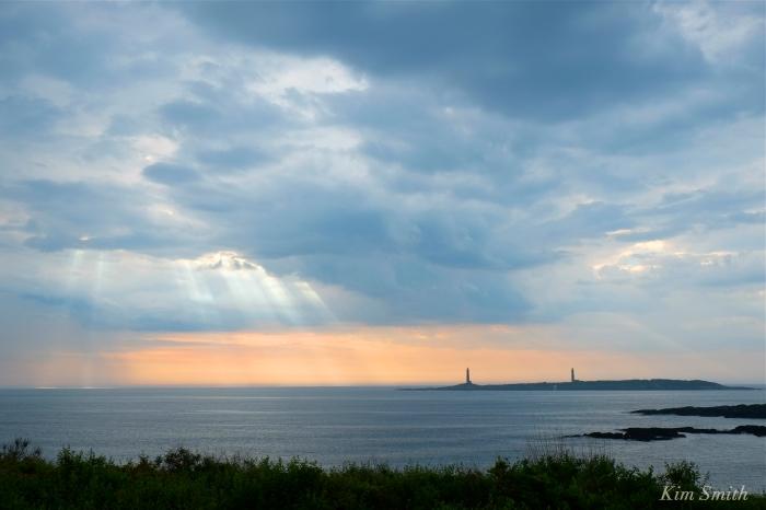 Thacher Island storm Twin Light copyright Kim Smith