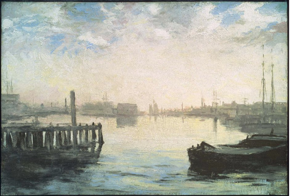 William Morris Hunt Gloucester Harbor MFA 1877
