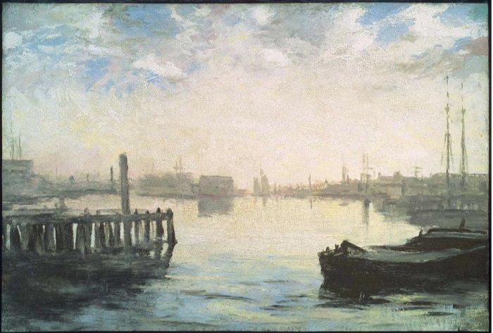 William Morris Hunt Gloucester Harbor MFA 1877