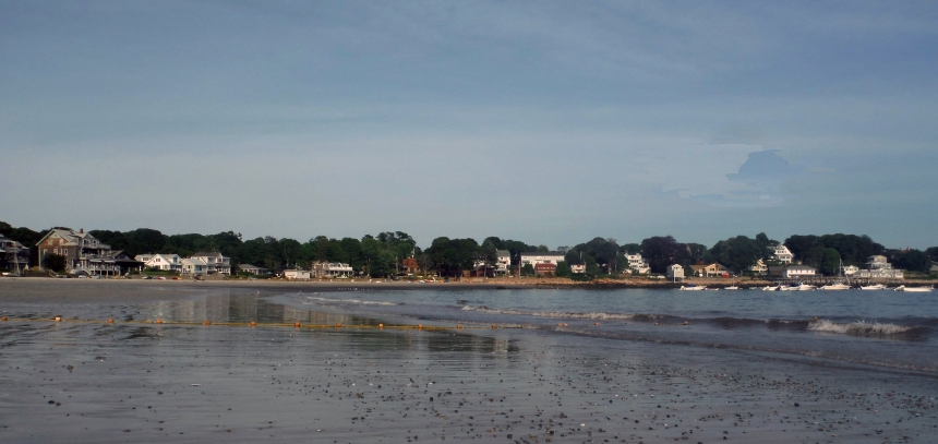July 21, 2016 low tide at Magnolia Beach