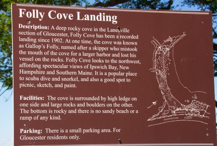 July 27, 2016 Folly Cove sign