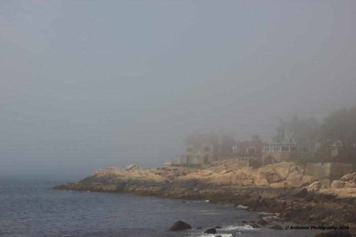 June 29, 2016 Hiram Walker house in the fog
