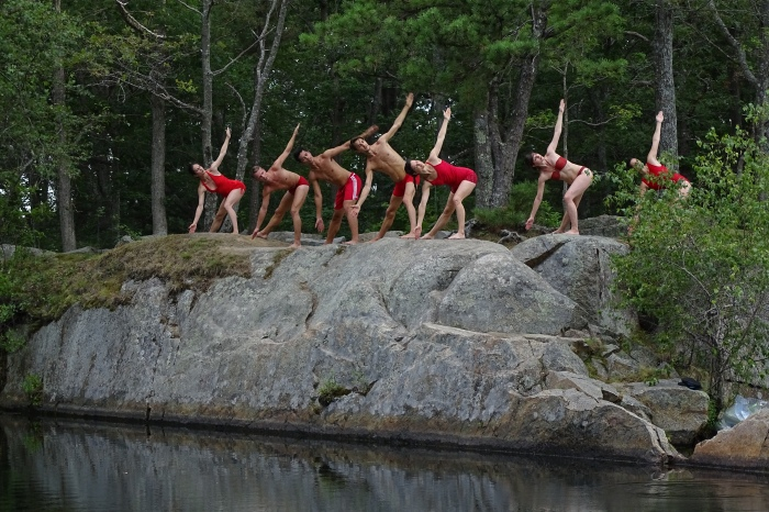 Quarry Dance 4 on top of granite ledge together