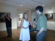 Rita Fucillo, Assoc Publisher Art New England with Matthew Swift Trident Gallery